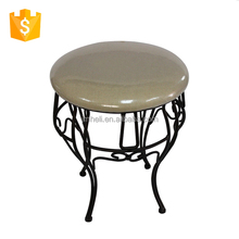 steel frame padded foot rest stool/stackable steel wire frame chair