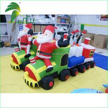 Attractive Innovation Design Custom Inflatable Santa Claus on Train