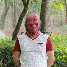 X-MERRY Hell boy latex halloween decoration red rubber party mask