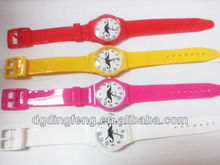 children fashion jelly quartz watch cheap promotional PVC band watch for kids