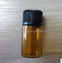 Mini 2ml amber glass essential oil tube ,customized printing available