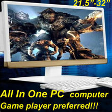"""Gaming desktops all in one computer 23.6""""LED monitor all in one pc gaming pc w/o CPU"""
