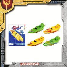 Cheap small plastic wind up toy boat for children