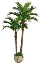 Artificial indoor coconut tree for home decorative plastic tree