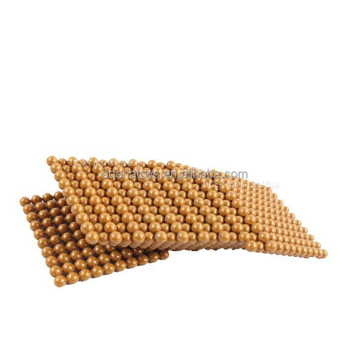 montessori golden bead material thousand cube bead buy