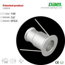 2015 venta al por mayor ip65 1 W mini LED comercial abajo de luz Alibaba china