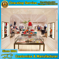 FC furniture modern wooden cloth shop counter table design for garment store
