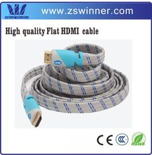 3D 4K for flat HDMI cable china with cotton mesh