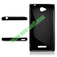 S Shape TPU Case for Sony Xperia C s39h c2305
