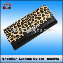 fashionale leopardo cartera de largo