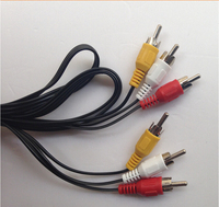 3.5mm AV Cable 3 male to 3male 1m Black RCA cable