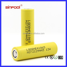 Factory Price!Sinpool LGDBHE4 18650 Battery Lg he4 18650 2500mah electric scooter battery pack 48v