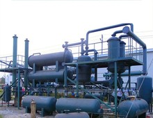 Oil recycling equipment re-refining used oil crude oil refining