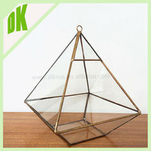 2016 new home decor items crystal glassball vase with cap ( a door can be added) // gold glass hanging candle holders wholesale