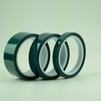 Polyester film silicone adhesive green PET tape