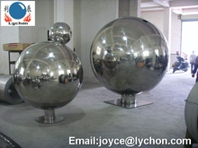 Large hollow stainless sphere, outdoor decoration ball