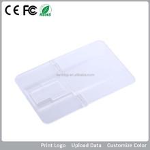 2GB 4GB 8GB 16GB 32GB credit card promotional USB Flash Drive /free logo imprinting USB card for school/hospital/government