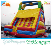 china best quality commercial use inflatable slide with climbing wall for sale