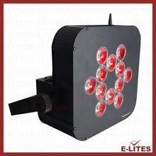 leds battery remote par 5ch power supply 12pcs 8W 4 in 1 LEDs