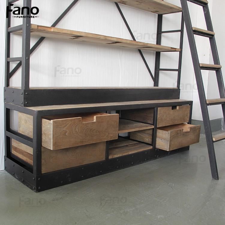 Mobili rio antigo estante de metal de ferro industrial do - Mobiliario vintage industrial ...