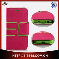 China phone case for Samsung Galaxy S4 mini, leather flip case for Samsung S4 Mini