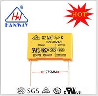 Factory direct Ultra film capacitor X2 class interferon suppression condenser 205K 275VAC P27.5MM OR 31.5MM