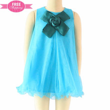 ShiJ frock design for girls party dresses christmas baby clothes mesh ruffles flower