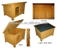 Wooden dog crate with hinged flat roof / cheap dog kennel