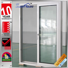 Australia standard double lowes soundproof aluminum sliding glass door with German handle