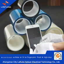 3 three layer 3layers pet film silicon glue oca rewinding roll rolled coiled coil material plastic screen guard protector