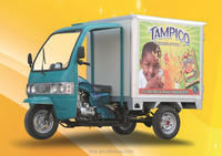 closed cargo tricycle hot sale motor cargo enclosed tricycle with box