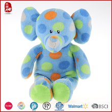 2015 new cute stuffed plush elephant toy in bright colored