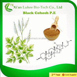 Available 2.5%, 5% Triterpene glycosides HPLC Brown Powder Black Cohosh Extract