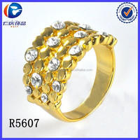 Children's Unisex Women's Alloy Jewelry Main Material Carved Crystal Ring