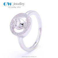 Fast Drop Shipping Stock Lot Real Pure 925 Sterling Silver Crown Shaped Ring