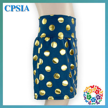 New Fashion Baby Girl Children's Summer Spring Short Skirt/Wonderful Navy Skirt With Polka Dot
