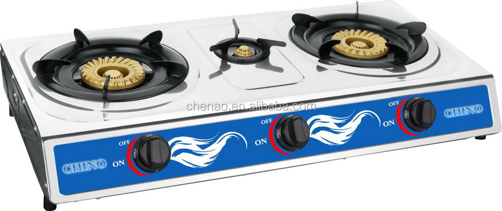 Countertop Glass Stove Top : Gas Stove Built In - Counter Top 3 Burner Cooktop Range Glass Top ...