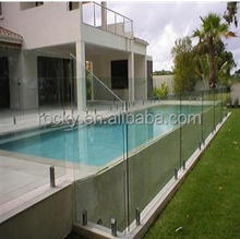 12mm thick tempered safety glass for pool fencing with CE certification
