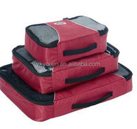 Factory Cheap Price High quality 3 pieces Packing Cubes,luggage organizer bag