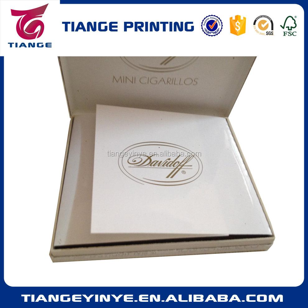 Personalizado Papel Cartão Mini Caixa de Charuto