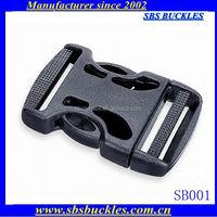 SBS black single-adjustable multihole buckles bag parts and accessories plastic buckles SB001