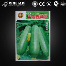 China wholesale plastic seeds packing bag/three side seal bag for agriculture seeds