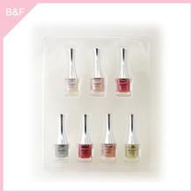 Private label makeup Nail Polish real nail polish sticker glitter design cheap gel uv 3 in 1 gel nail polish