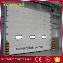 YQS-01 Industrial fire rated sectional overhead doors/CE certificated Industrial Fire Rated Sectional Overhead Door