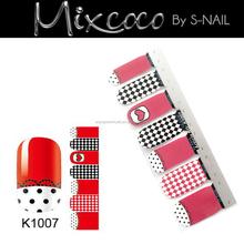 Fashion design korea nail sticker,sticker for nail art,nail stickers for girls