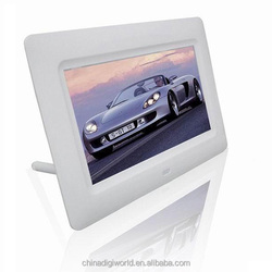 High definition 7inch portable digital photo frame play video/photo/music