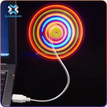 Promotional Programmable Flashing Mini Light Up LED Handhold Fan with Message