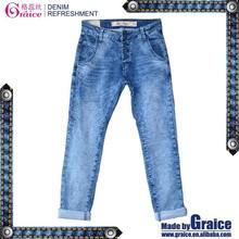 Fashion italian design tight skinny denim women clothing jeans pants
