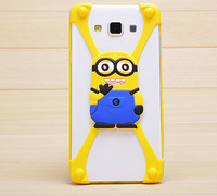 minion 3d silicone cell phone case for samsung galaxy s5 iphone 6 case