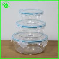 Plastic Waterproof 4 Side Locked Lunch Box For Microwave